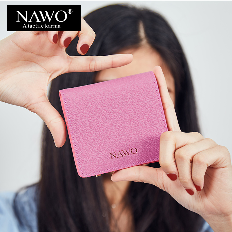 nawo nova rosa mulheres carteiras Lining Material : Microfiber Synthetic Leather+polyester