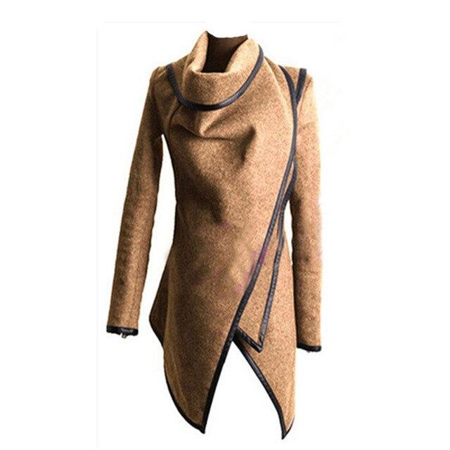 Мода Тонкий темперамент шерстяное пальто ветровка нерегулярные юбка шерстяная мульти-код цвета длинный плащ для женщин WF035