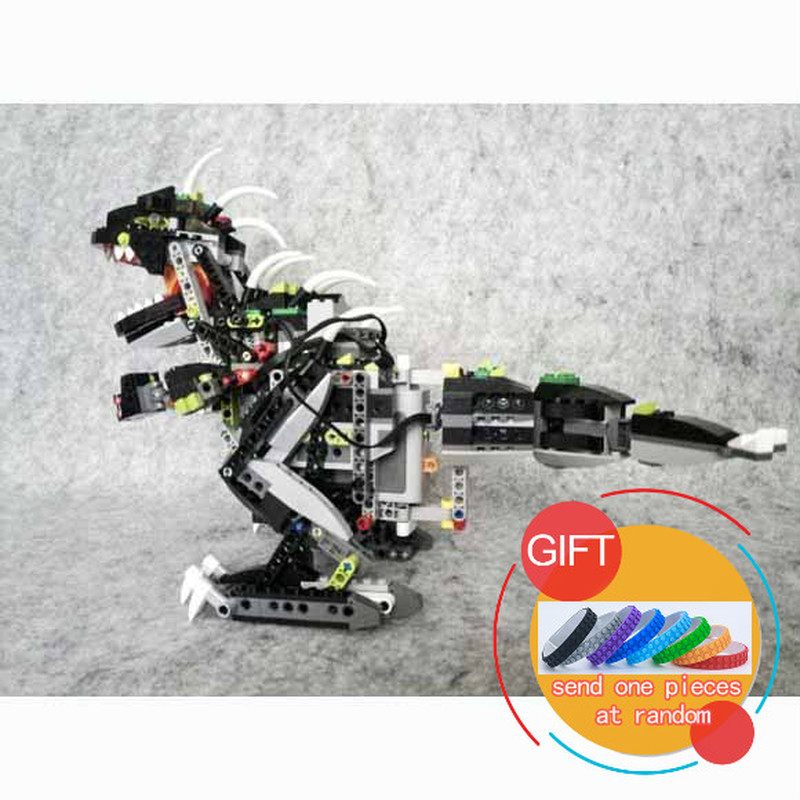 24010 792Pcs Creative Series The three-in-one remote control vocal dinosaur set building blocks Compatible with 4958 Toys lepin love for three oranges vocal score