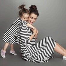 Девушки, пижамы, взгляд, полоса, платье, установлены одежда, мама семья новорожденных детская