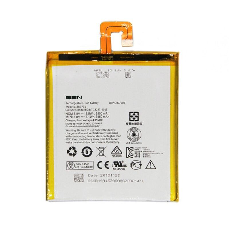 2017 Новый Батарея 3.8 В 3450/3550 мАч <font><b>L13D1P31</b></font> для <font><b>Lenovo</b></font> LePad S5000 s5000-h Батарея
