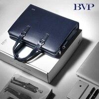 BVP 14 кожаная сумка для ноутбука человек Малетин Hombre Portadocumentos полная кожа зерна Бизнес портфели сумки для ManJ20