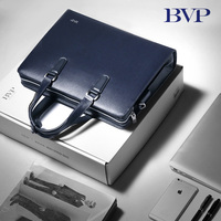 BVP 14 Leather Laptop Bag Man Maletin Hombre Portadocumentos Full Grain Cowhide Business Briefcases Totes for ManJ20