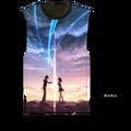 Anime Your Name. Miyamizu Mitsuha Tika Cosplay Costume T-shirt