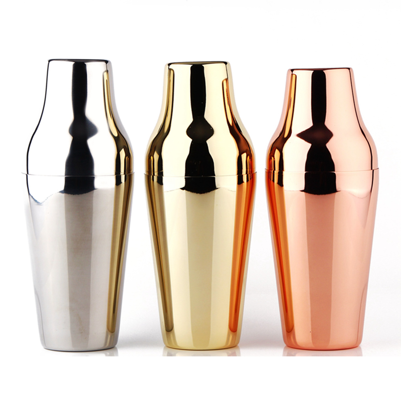 Premium 650ml French Style / Paris Cocktail Shaker, Mirror / Copper / Golden Finishing, 18-8 Stainless Steel / Barware / Tools