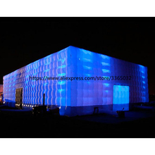 High Quality Inflatable Cube Tent/ inflatable Camping Party Tent Event with LED lights