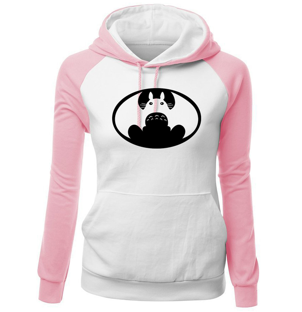 Totoro Vs Batman Women Raglan Hoodies (6 Colors)