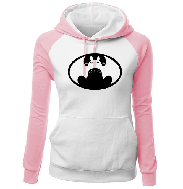 Totoro Vs Batman Women Raglan Hoodies (6 Colors)