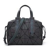 New Fashion Women Luminous sac bao Bag Diamond Tote Geometric Quilted Shoulder Bags Saser Plain Folding Handbags bolso 2018