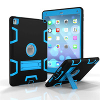 For IPad Air 1 Kids Safe Shockproof Heavy Duty Hybrid Armor Silicone Rubber Hard Case Cover