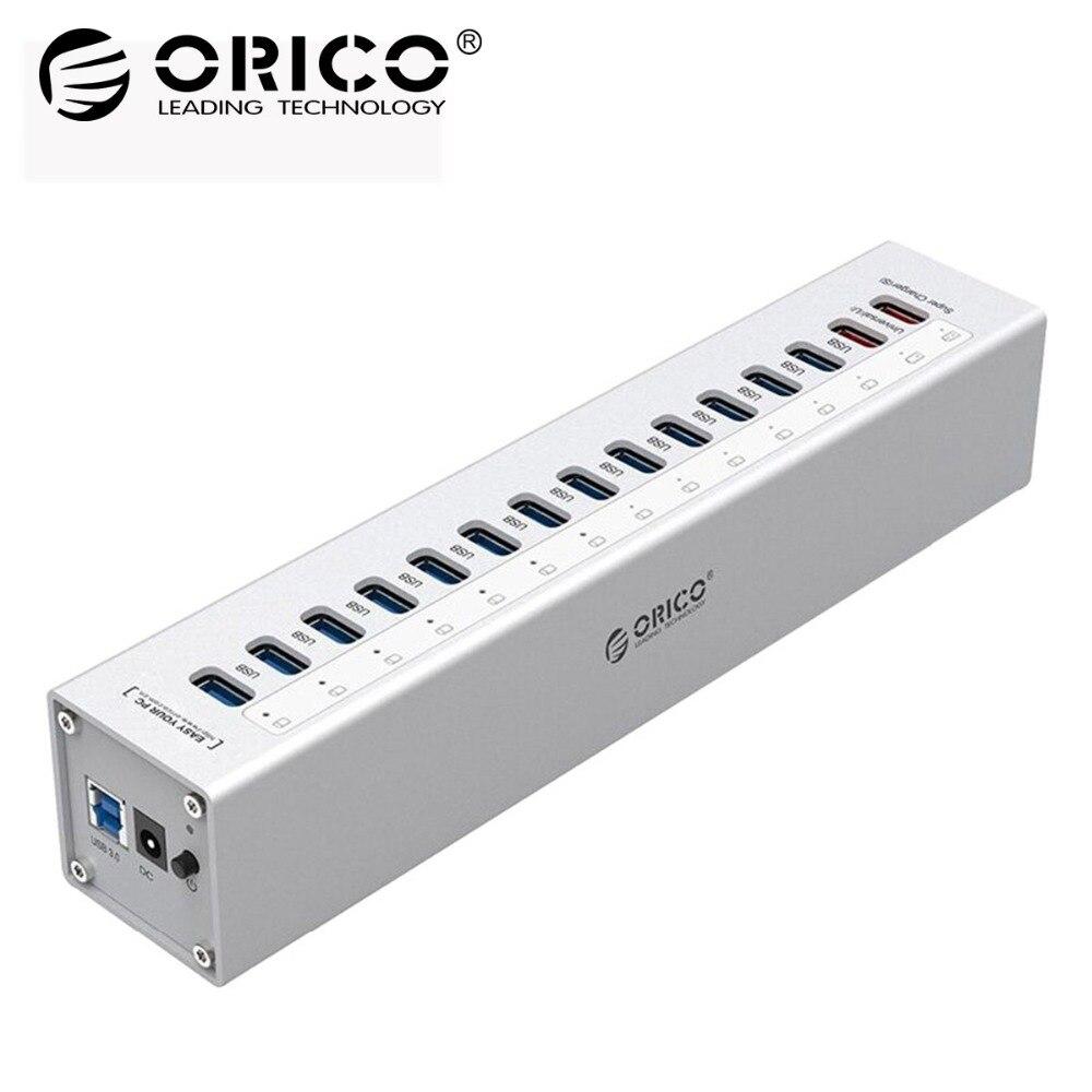 ORICO HUB USB Externo de Alumínio 13-port 5 USB3.0 Hubs Splitter 5gbps para PC Portátil Macbook com 2 Carregamento portas para PC Portátil