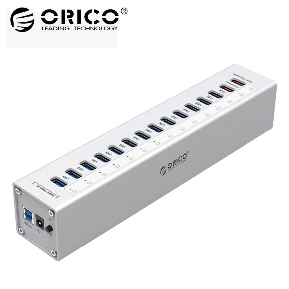 ORICO HUB USB Esterno di Alluminio 13-port 5 Gbps USB3.0 Hub Splitter per il Computer Portatile Macbook PC con 2 di Ricarica porte per PC Del Computer Portatile