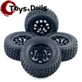 1/10 Hex 12mm Rc Short Course Truck Tires 4pcs/set Tyre Wheel Rim For TRAXXAS SlASH HPI Remote Control Car Model Toys Accessory
