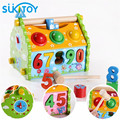 Wooden House Colorful Number and three balls Educational Soft Montessori children intelligent creative interactive toys