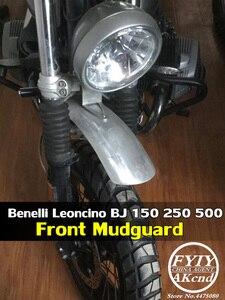 Image 1 - Błotniki motocyklowe ręcznie robione ze stopu Aluminium ze stopu Aluminium Frint błotnik koła przedłużający błotnik dla Benelli Leoncino BJ 150 250 500