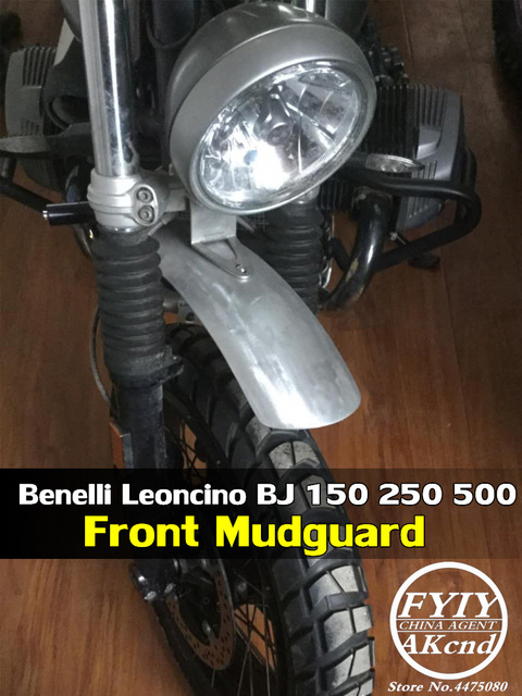 Błotniki motocyklowe ręcznie robione ze stopu Aluminium ze stopu Aluminium Frint błotnik koła przedłużający błotnik dla Benelli Leoncino BJ 150 250 500
