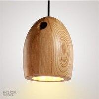 Japan woode pendant light kitchen dining room bar hanging lamp e27 droplight