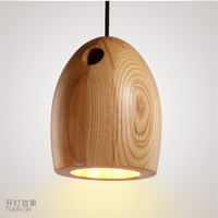 Japan woode pendant light kitchen dining room bar hanging lamp e27 droplight