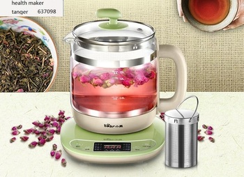 health raising pot fully automatic thickened glass multi function tea ware body electric heating kettle ware anti dry protection chinaguangdong Bear YSH-B18T1 glass health coffee pot 1.5L household Multifunction electric water kettle tea pot 220-230-240v