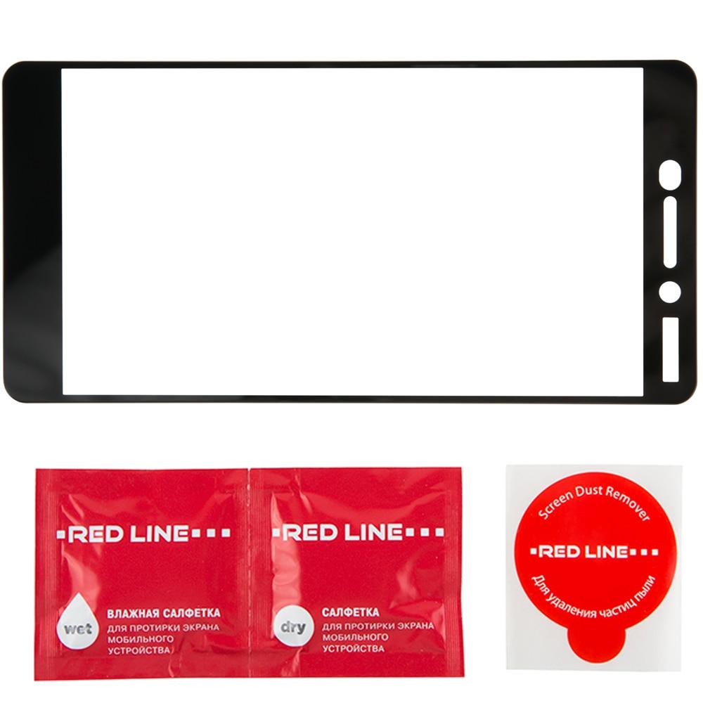 Защитное стекло Red Line для Nokia 6 2018 Full Screen чёрное - 2