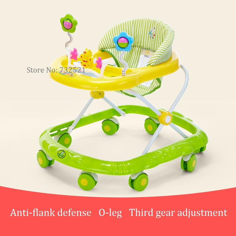 Baby pediatric walker 6 / 7-18 months anti-rollover multi-function scooter with music toy car original fisher price multi function baby walker lion car children activity musical baby walker with wheels adjustable car