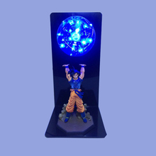 Colorful Dragon Ball Son Goku Strength Bombs Luminaria Led Night Light Red Blue Green Yellow Lighting Led Lamp In 110V 220V 127V цена