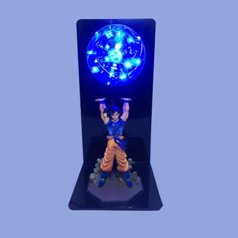 Красочные Dragon Ball Сон Гоку прочность бомбы Luminaria светодио дный ночник красные, синие зеленый желтый освещения светодио дный лампы в 110 V 220 V 127 В