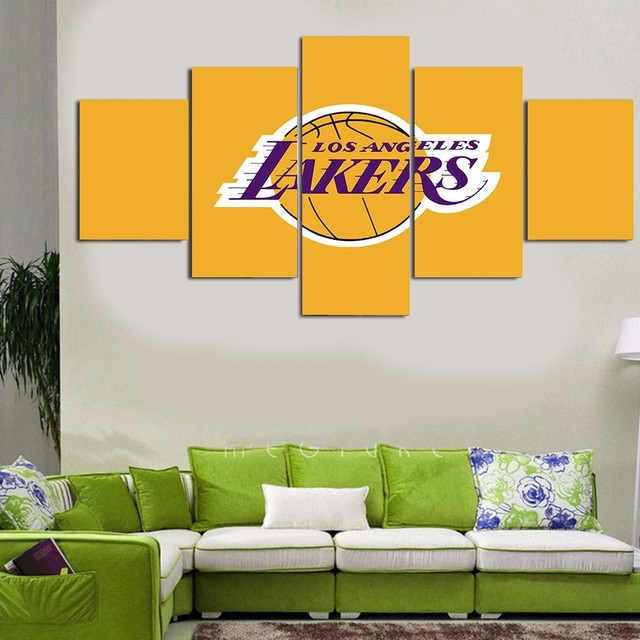 Los Angeles Lakers basketball club sports Painting Canvas Modern ...