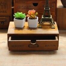 Creative Vintage Wooden Shelf Drawer Box Miscellaneous Shelf Treasure Box Desktop Decoration Wooden Cabinet Rack Storage