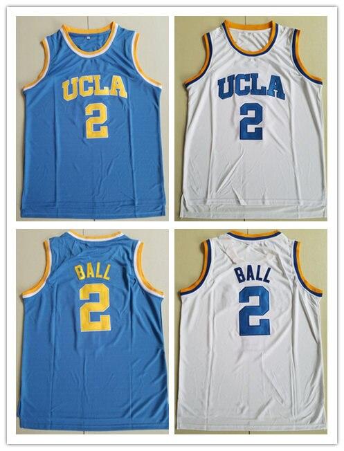 4f30185a491 BONJEAN Men Cheap Throwback Basketball Jerseys 2 Lonzo Ball Blue White  Jersey UCLA College Stitched Retro Shirts
