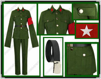 Axis Powers Hetalia China Cosplay Costume Red Army Outfits mp000218