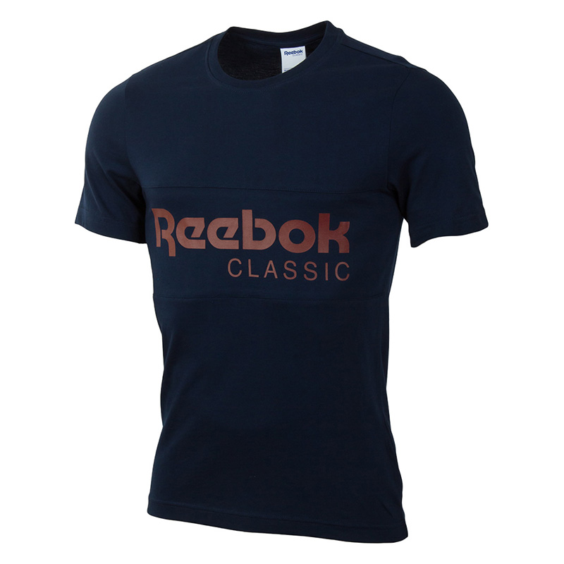 Male T-Shirt REEBOK BK3839 sports and entertainment for men sport clothes 3d letters and banknote printed round neck short sleeve men s t shirt