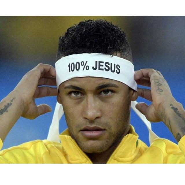 ddc4c0aa9f5187 100% JESUS Druck Basketball Sport Stirnband Männer Frauen Laufen Fitness  Schweißband Bandana Freie Verschiffen