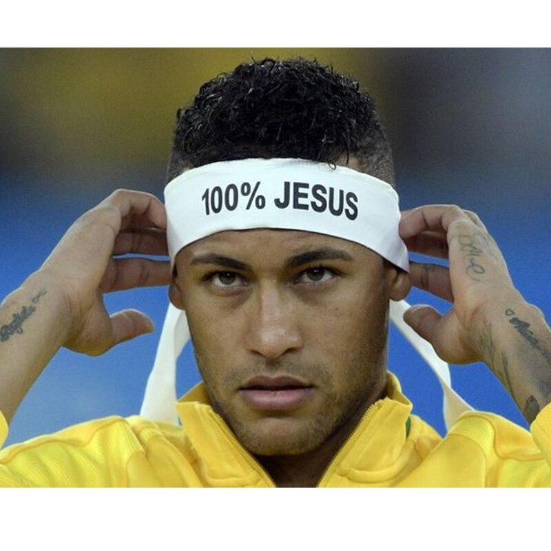 100% JESUS Print Basketball Sports Headband Men Women Running Fitness Sweatband Bandana Free Shipping