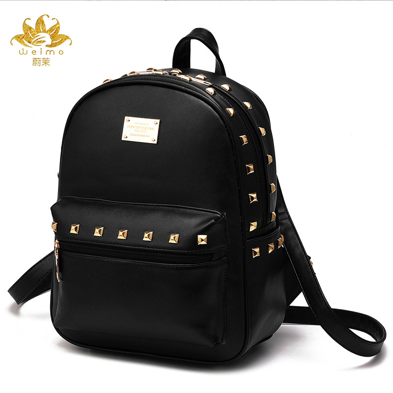 New Designer Women Backpack For Teens Girls Preppy Style School Bag PU Leather Backpack Ladies High Quality Red Rucksack 2015 new fashion designer genuine leather brand ladies preppy style women backpack school backpack women shoulder wnb069