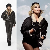 Потрясающая куртка на гусином пуху, элегантная женская куртка, модная куртка abrigo mujer, Женская куртка пуховик, зимняя теплая куртка пуховик