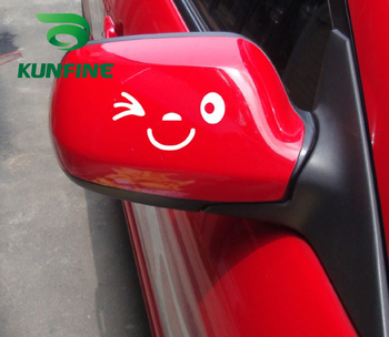 KUNFINE Car Styling sticker Smile Face Car Sticker Vinyl Decal Decoration film Car Diy Sticker Tuning parts image