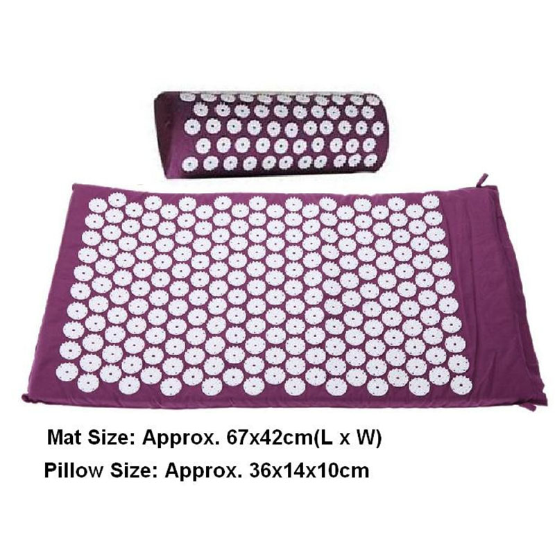 Massage cushion Acupressure Mat Relieve Stress Pain Acupuncture Spike Yoga Mat with Pillow