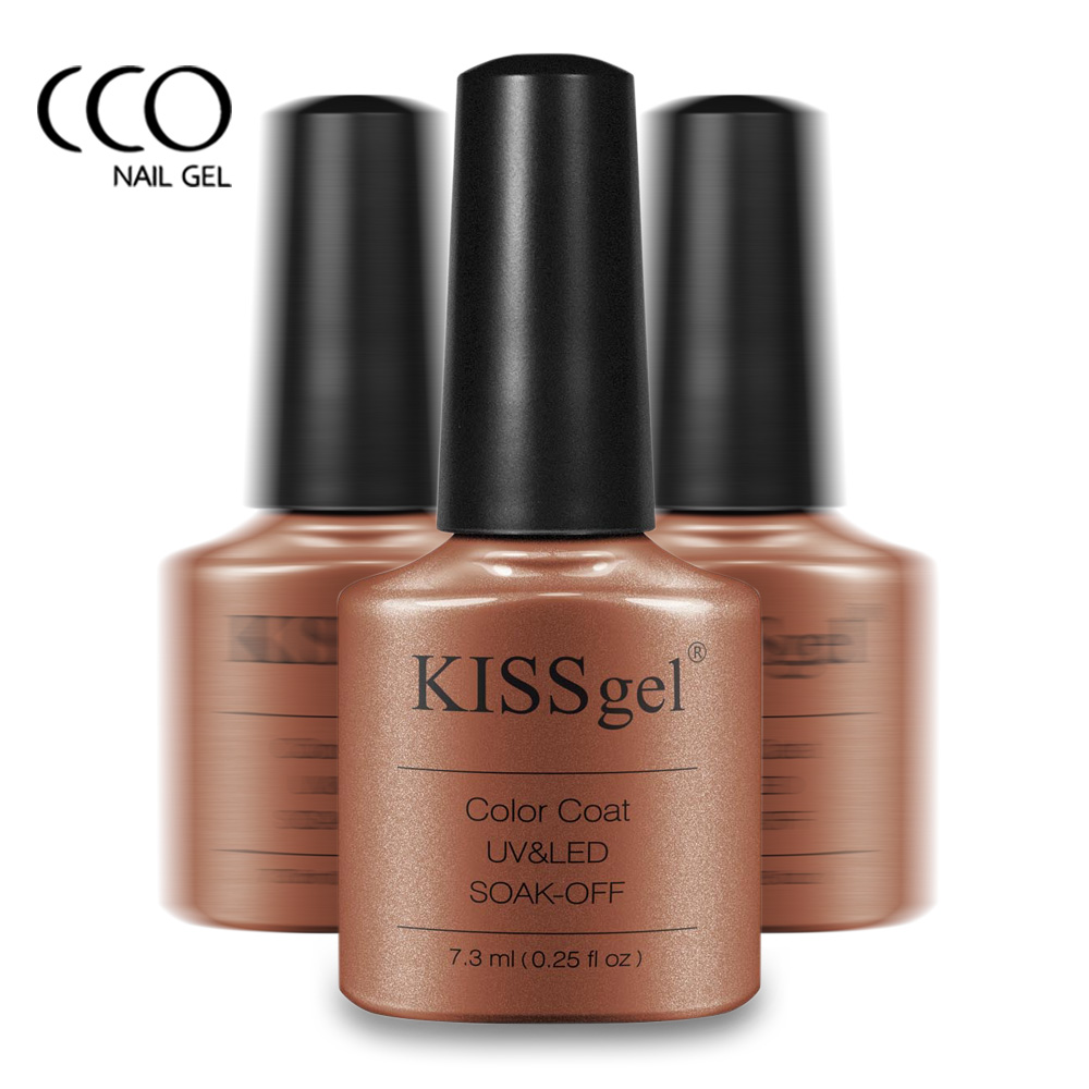 CCO Kiss Gel UV Lamp Nail Polish Nude Colors Soak off Gel Polish ...