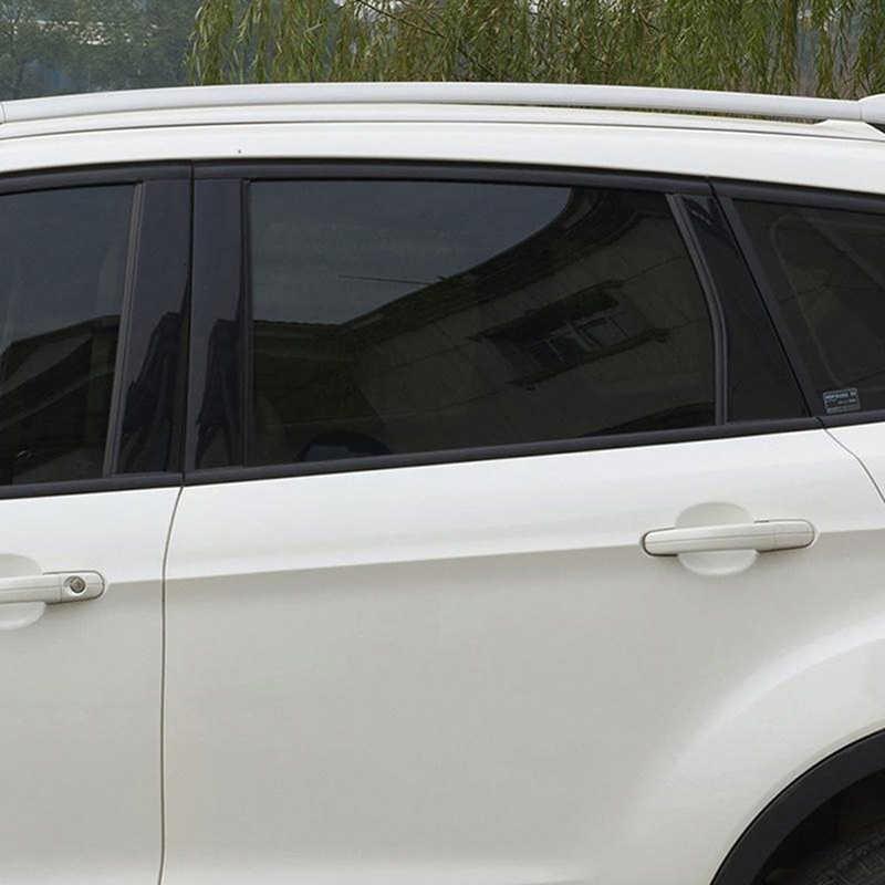 50x100 ซม. สีดำกระจกหน้าต่างย้อมสีฟิล์มตกแต่งภายในบ้านไวนิล