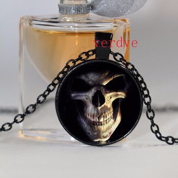 1pcs/lot Skull Logo Pendant Necklace Vintage Pendant Necklace Jewelry For Girl Dress Accessories 1
