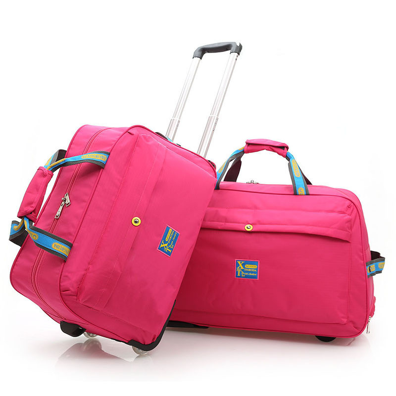 2018 Men Travel Bags Large Capacity Women Trolley Bags Travel Duffle Bag Waterproof Rolling Luggage Carry On Bag