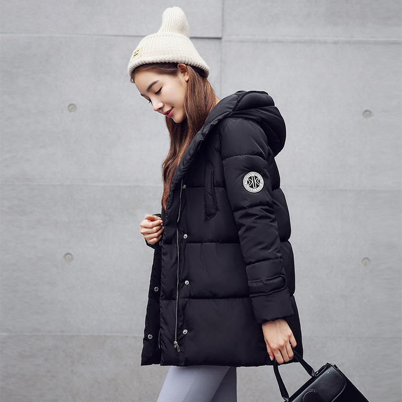 2016 New Winter Shoot Down Cotton Thin Fat Slim Korean Code Long Coat Free Shipping