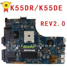 Оригинальный материнская плата для ноутбука K55DR K55DE для ASUS REV2.0 разъем FS1 DDR3 неинтегрированных полностью Тесты