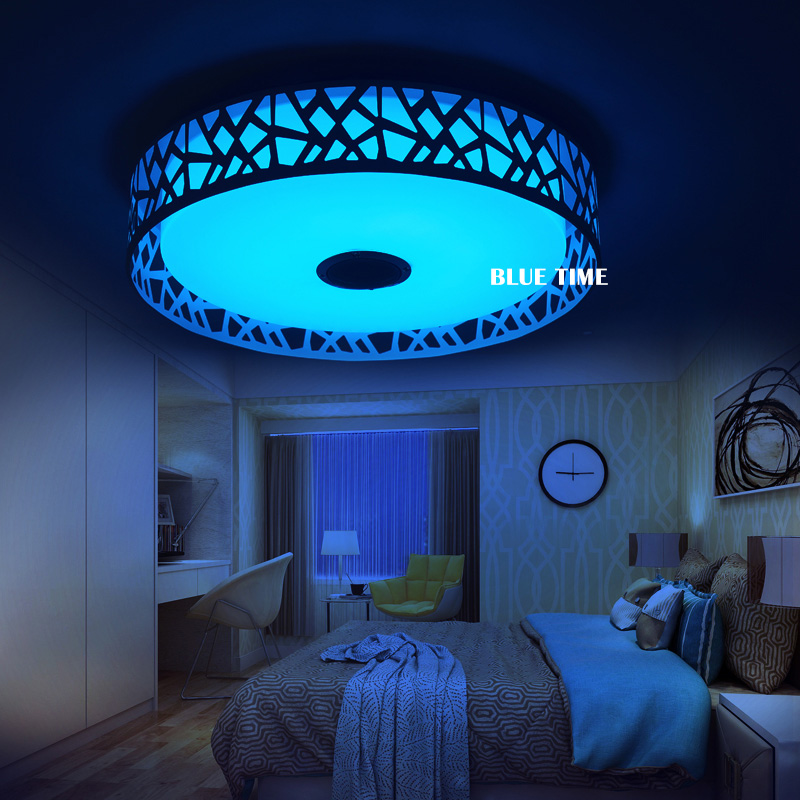 Modern LED Chandelier For Living room Bedroom Music Lamp Multicolor Changer With App Bluetooth Control Chandelier Lighting D47cmModern LED Chandelier For Living room Bedroom Music Lamp Multicolor Changer With App Bluetooth Control Chandelier Lighting D47cm