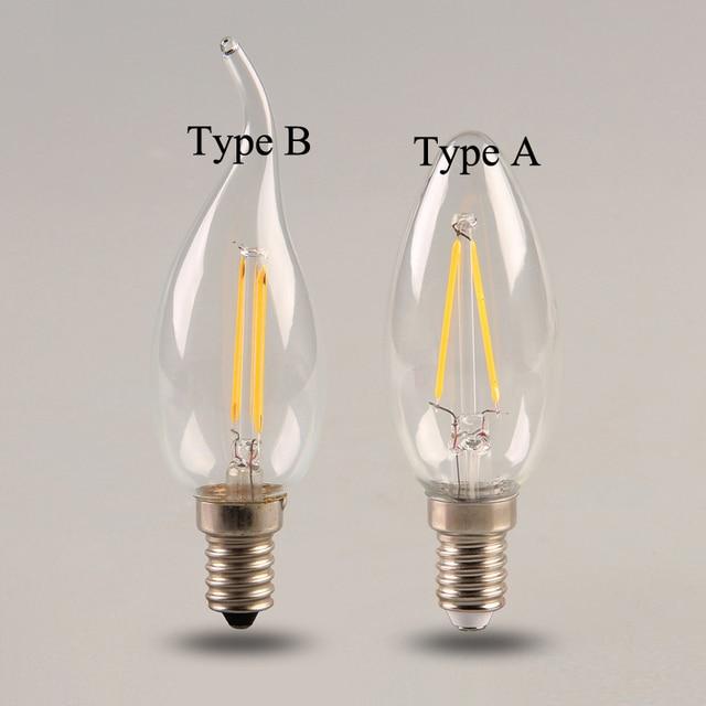 50pcs Lot Dimmable 2w 4w 6w E14 Pull Tail Light Cob Led Filament Lamps C35