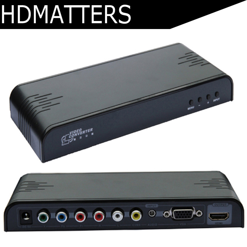 HDmatters VGA Component Ypbpr composite AV to HDMI converter Scaler Mixed inputs Switcher for PC laptop