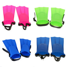 ФОТО 4 colors rubber swimming fins adults kid adjustable flippers fins swimming diving learning tools s/m/l/xl for swimming equipment