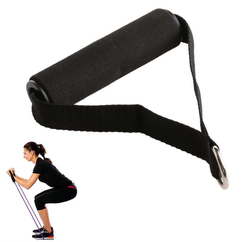 1PC Tricep Rope Cable Attachment Handle V Bar Dip Station Resistance Exercise Sport For Yoga Belt Gym