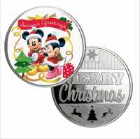 Festival Gifts Silver Coin 999.9 Silver Plated Cartoon Cute Animal Metal Coin Art Ornament for Christmas